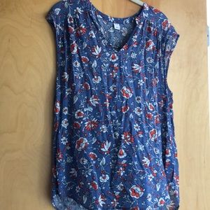 Old Navy periwinkle blue sleeveless print top